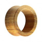 Holz Flesh Tunnel - Braun - Canary Wood