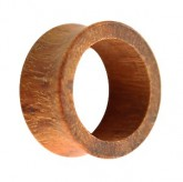 Holz Flesh Tunnel - Braun - Granadillo