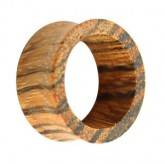 Holz Flesh Tunnel - Braun - Zebrano