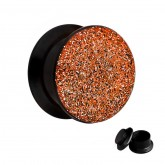 Ohr Plug - Glitter - Orange-Rot