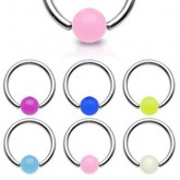 Piercing Klemmring - Silber - Glow in the dark - Bunt