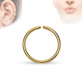 Piercing Ring - Continuous Ring - Gold