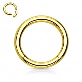 Segmentring Piercing - Gold [1.] - 1.2 x 6 mm